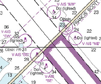 Portrayal of ais aids to navigation paper chart 12281 and ecs display of raster nautical chart sciox Choice Image