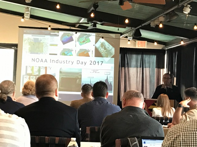 Rear Adm. Shepard Smith provides introductory remarks at NOAA Industry Day 2017.