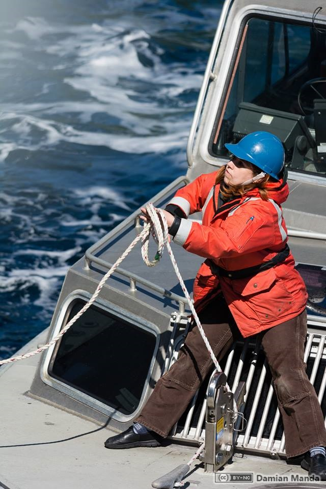Starla Robinson served as a crew member on the NOAA Ship Rainier. Photo credit: Lt. Damian Manda, NOAA Corps