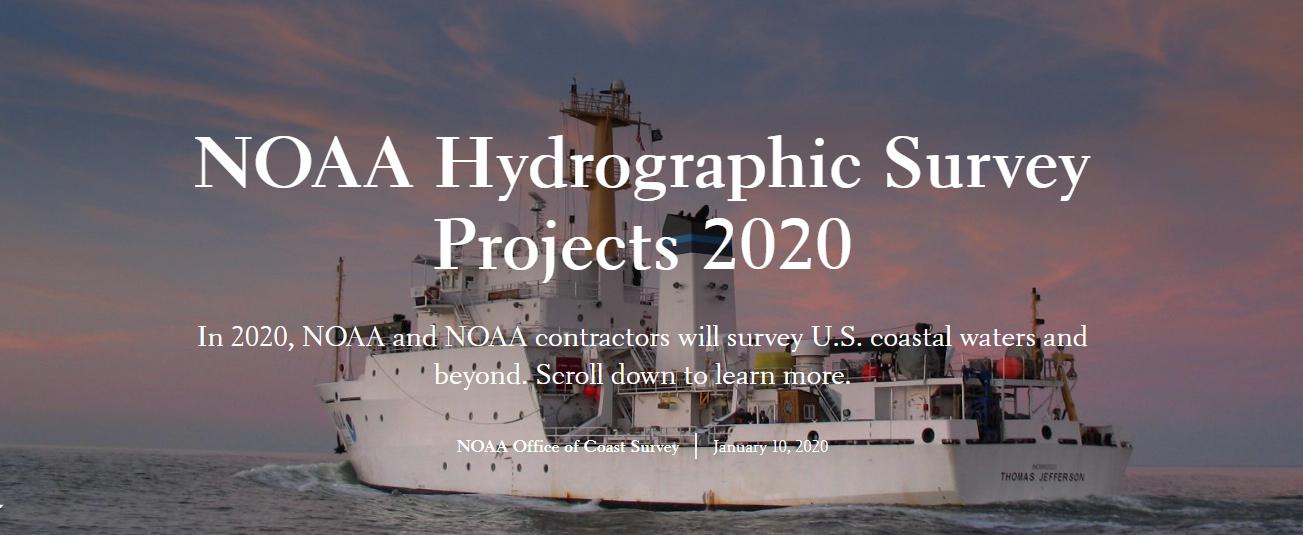 NOAA 2020 Hydrographic Survey Season Story Map Cover