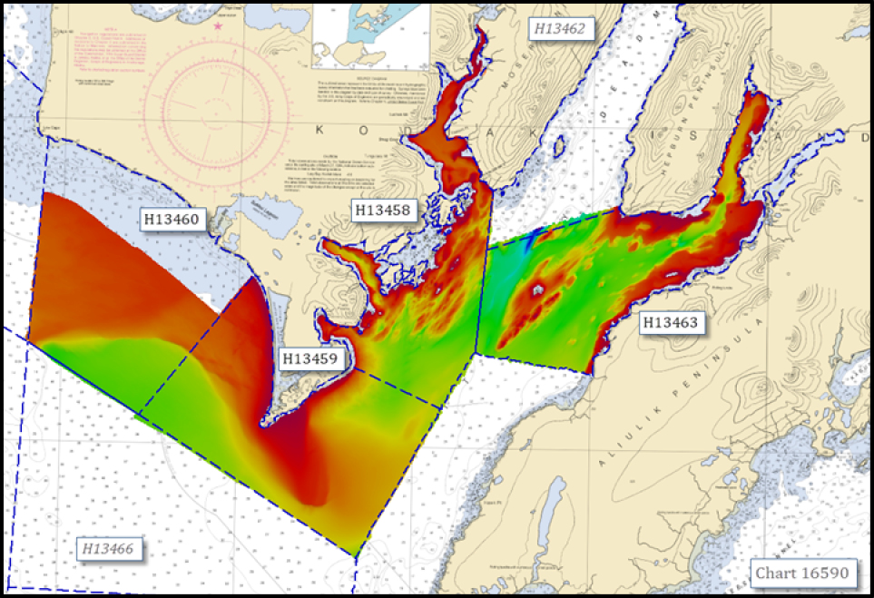 Bathymetric data acquired by NOAA Ship Fairweather.